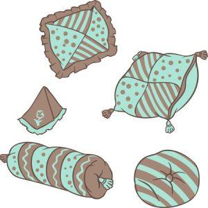 verschiedene Kissenformen