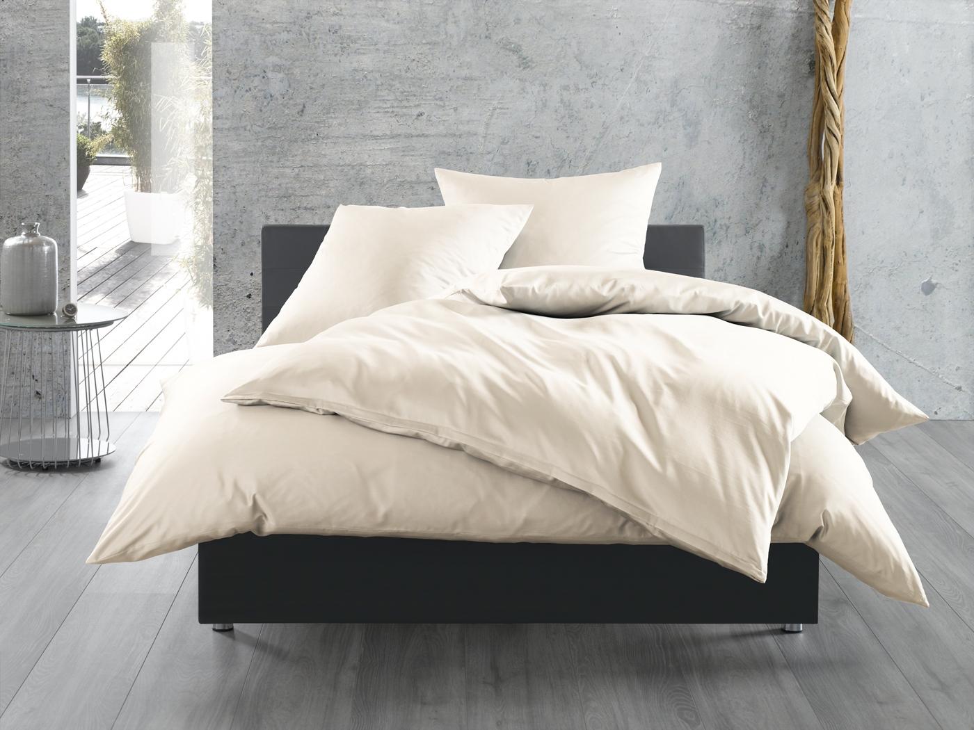 einfarbige bettw sche natur bettwaesche mit stil. Black Bedroom Furniture Sets. Home Design Ideas
