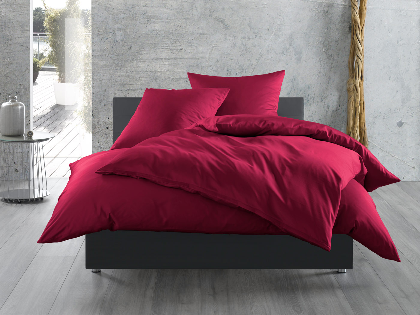 mako satin bettw sche uni einfarbig pink online kaufen bms. Black Bedroom Furniture Sets. Home Design Ideas