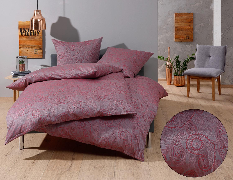paisley bettw sche davos in dunkelrot auf bms. Black Bedroom Furniture Sets. Home Design Ideas