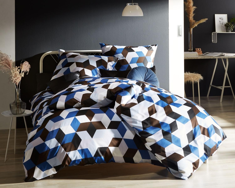 Moderne Mako Satin Bettwasche Geometrisch
