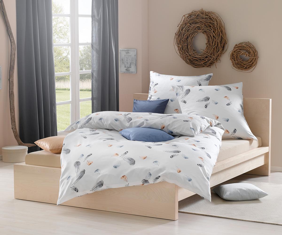 mako satin bettwsche wei interesting bettwsche muster bettwaesche janine dynamio mit grafischen. Black Bedroom Furniture Sets. Home Design Ideas