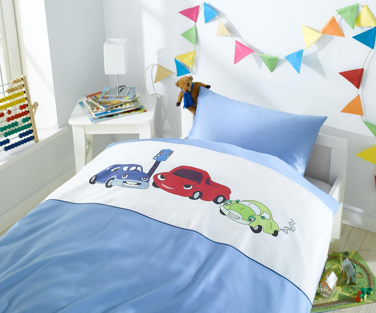 bettw sche f r kinder von lorena mit autos bei bms. Black Bedroom Furniture Sets. Home Design Ideas