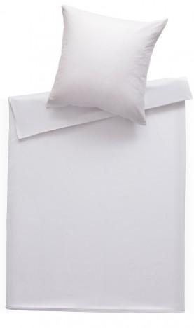 Bettwaesche-mit-Stil Mako Satin Damast Bettwäsche 155x220 Stripes 2mm weiß