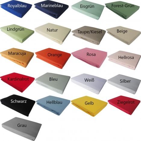 Bettwaesche-mit-Stil Jersey Spannbettlaken in vielen Farben und Größen