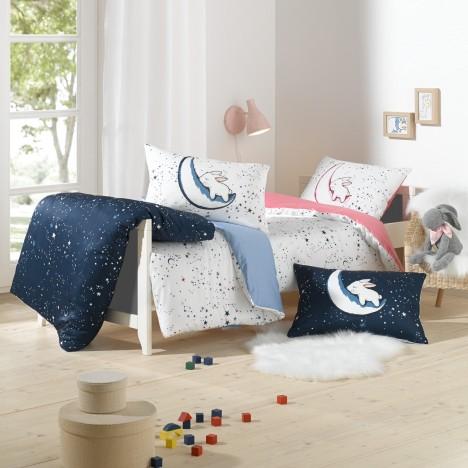 Lorenchen von Lorena Kinderbettwäsche Luna rosa oder blau