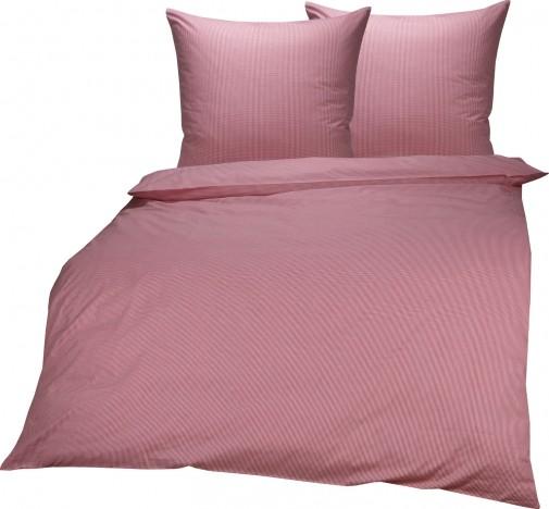 Lorena Mako Batist Bettwäsche Basel Vichykaro (0,25cm) Lavendel Rot Garnitur 200x220 cm + 2x 80x80 cm