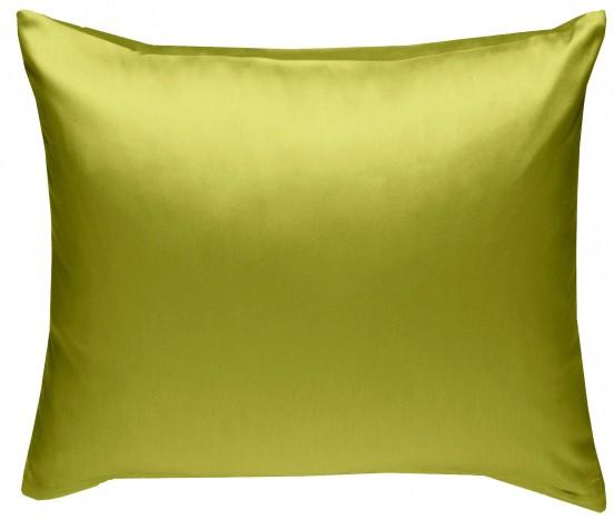 Mako Satin Kissenbezug grün 100% Baumwolle von Bettwaesche-mit-Stil