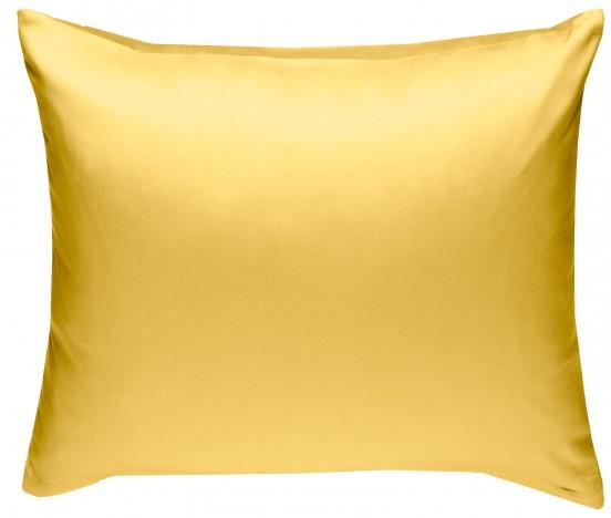 Mako Satin Kissenbezug gelb 100% Baumwolle von Bettwaesche-mit-Stil