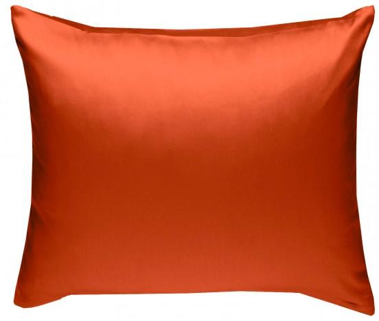 Mako Satin Kissenbezug orange 100% Baumwolle von Bettwaesche-mit-Stil