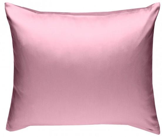 Mako Satin Kissenbezug rosa 100% Baumwolle von Bettwaesche-mit-Stil