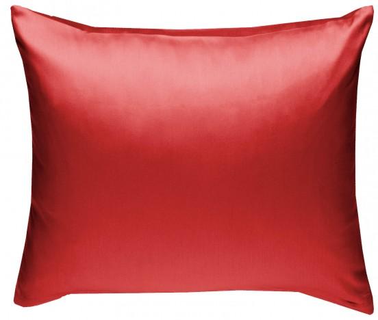 Mako Satin Kissenbezug rot 100% Baumwolle von Bettwaesche-mit-Stil