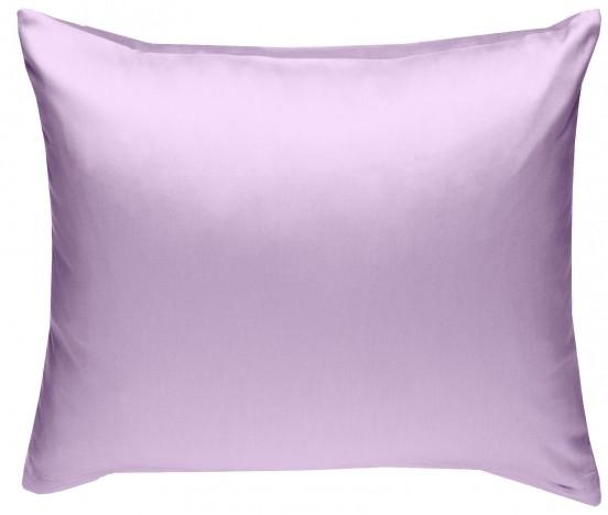 Mako Satin Kissenbezug flieder-rosa 100% Baumwolle von Bettwaesche-mit-Stil