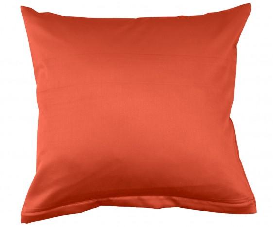 Lorena Mako Satin Bettwäsche uni Classic Orange Kissenbezug