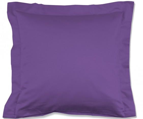Lorena Mako-Satin einfarbiges Kissen mit Stehsaum Classic lila
