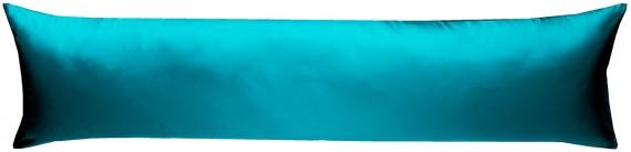 Mako-Satin Seitenschläferkissen Bezug uni / einfarbig petrol blau 40x145 cm von Bettwaesche-mit-Stil