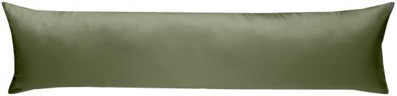 Mako-Satin Seitenschläferkissen Bezug uni / einfarbig dunkelgrün 40x145 cm von Bettwaesche-mit-Stil