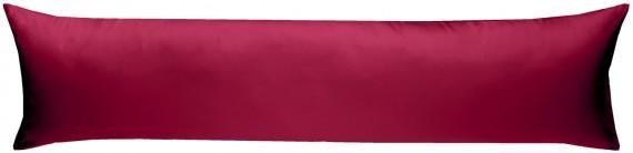 Bettwaesche-mit-Stil Mako-Satin / Baumwollsatin Seitenschläferkissen Bezug uni / einfarbig pink