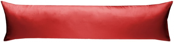 Mako-Satin Seitenschläferkissen Bezug uni / einfarbig rot 40x145 cm von Bettwaesche-mit-Stil