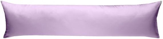 Mako-Satin Seitenschläferkissen Bezug uni / einfarbig flieder rosa 40x145 cm von Bettwaesche-mit-Stil