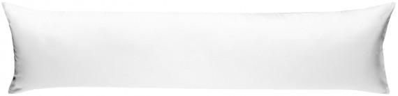 Mako-Satin Seitenschläferkissen Bezug uni / einfarbig weiß 40x145 cm von Bettwaesche-mit-Stil