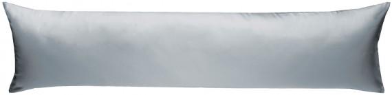 Mako-Satin Seitenschläferkissen Bezug uni / einfarbig grau 40x145 cm von Bettwaesche-mit-Stil