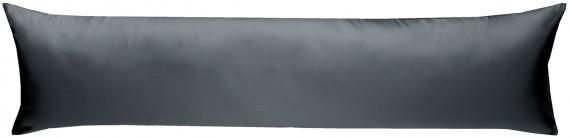 Mako-Satin Seitenschläferkissen Bezug uni / einfarbig anthrazit 40x145 cm von Bettwaesche-mit-Stil