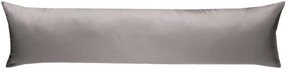 Mako-Satin Seitenschläferkissen Bezug uni / einfarbig dunkelgrau 40x145 cm von Bettwaesche-mit-Stil