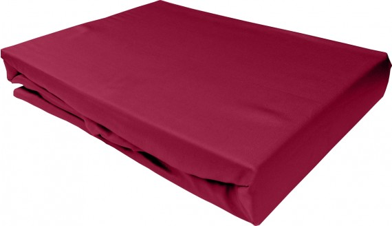 Bettwaesche-mit-Stil Mako-Satin Spannbettlaken pink