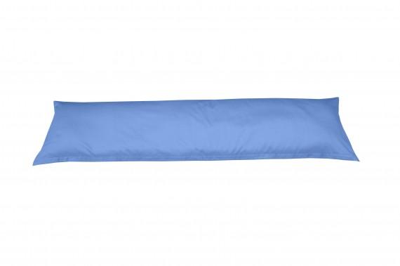 Mako-Satin Seitenschläferkissen Bezug uni / einfarbig hellblau 40x145 cm