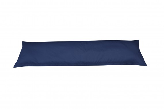 Mako-Satin Seitenschläferkissen Bezug uni / einfarbig dunkelblau 40x145 cm