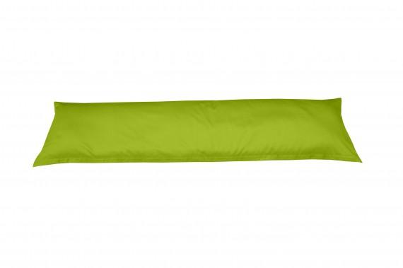 Mako-Satin Seitenschläferkissen Bezug uni / einfarbig grün 40x145 cm