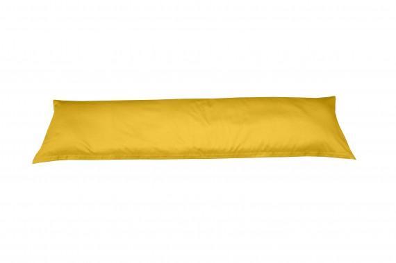 Mako-Satin Seitenschläferkissen Bezug uni / einfarbig gelb 40x145 cm