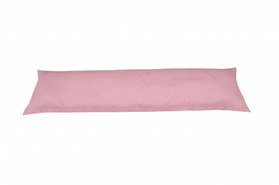 Mako-Satin Seitenschläferkissen Bezug uni rosa 40x145 cm