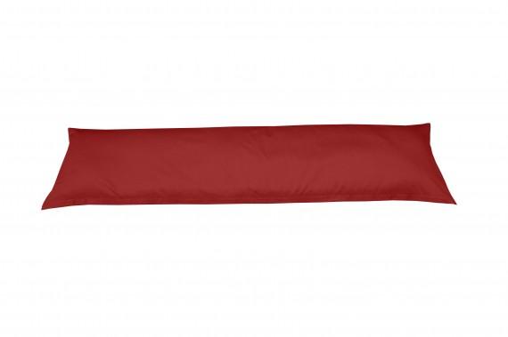 Mako-Satin Seitenschläferkissen Bezug uni / einfarbig rot 40x145 cm