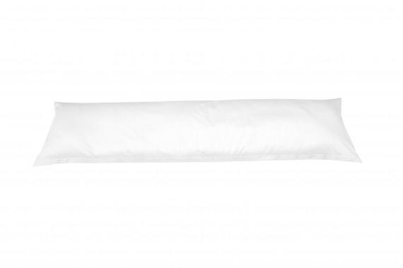 Mako-Satin Seitenschläferkissen Bezug uni / einfarbig weiß 40x145 cm