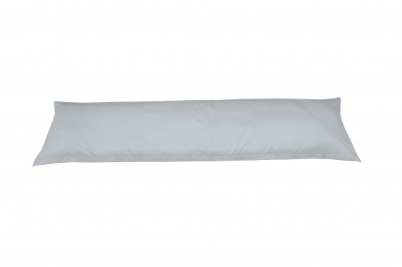 Mako-Satin Seitenschläferkissen Bezug uni / einfarbig grau 40x145 cm