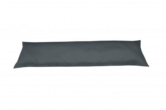 Mako-Satin Seitenschläferkissen Bezug uni / einfarbig anthrazit 40x145 cm