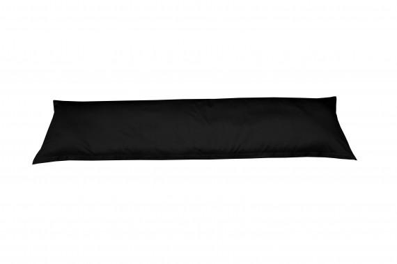 Mako-Satin Seitenschläferkissen Bezug uni / einfarbig schwarz 40x145 cm