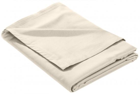 Mako Satin Bettlaken ohne Gummizug natur