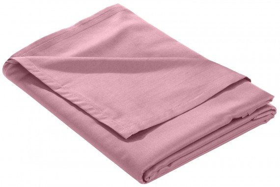 Mako Satin Bettlaken ohne Gummizug rosa