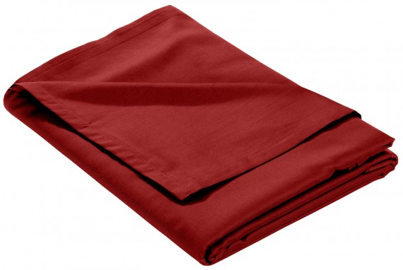 Mako Satin Bettlaken ohne Gummizug rot