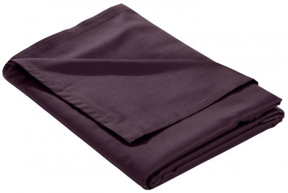 Mako Satin Bettlaken ohne Gummizug brombeer