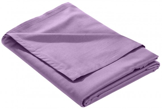 Mako Satin Bettlaken ohne Gummizug flieder rosa