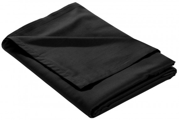 Mako Satin Bettlaken ohne Gummizug schwarz