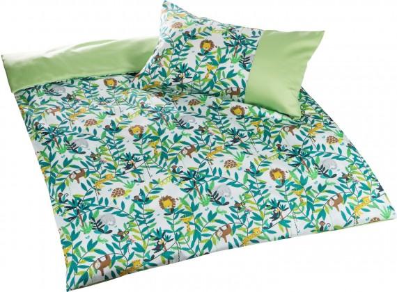 Mako Satin Kinderbettwäsche Dschungel ganz