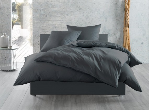 Einfarbige Bettwäsche Anthrazit Bettwaesche Mit Stil