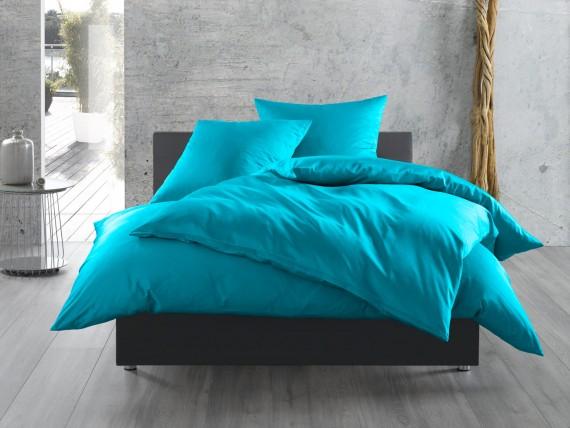 Einfarbige Bettwäsche 155x200 In Blau Bettwaesche Mit Stil