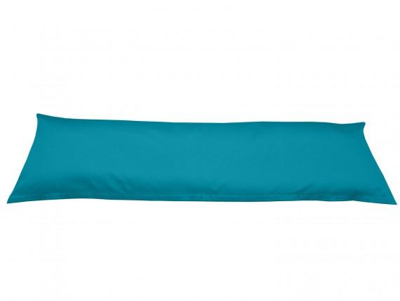 Bettwaesche-mit-Stil Mako-Satin / Baumwollsatin Seitenschläferkissen Bezug uni / einfarbig petrol blau