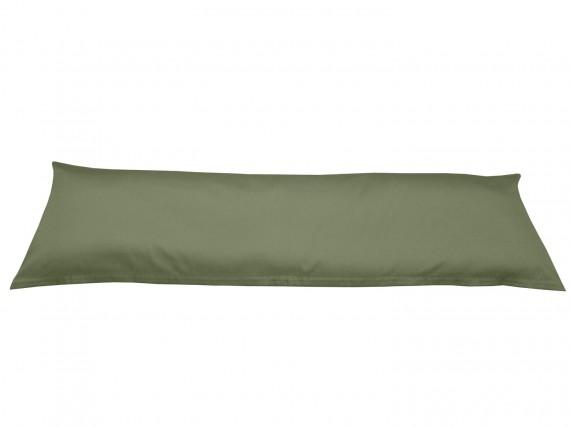 Bettwaesche-mit-Stil Mako-Satin / Baumwollsatin Seitenschläferkissen Bezug uni / einfarbig dunkelgrün